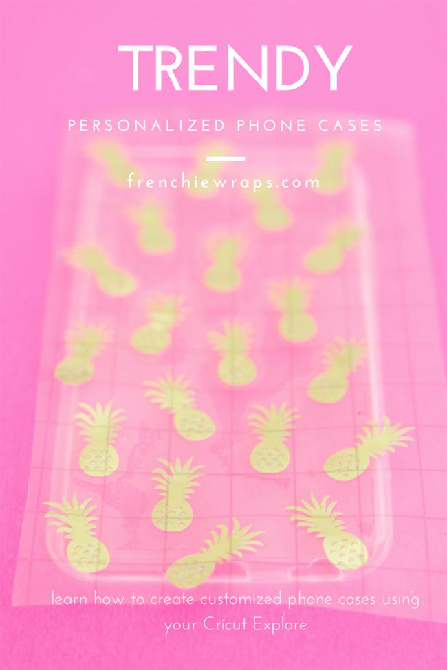 Create a trendy personalized Cricut phone case using your Cricut Explore
