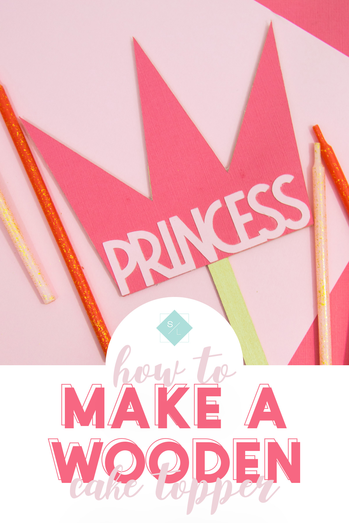 Make your own DIY cake topper by learning how to cut wood with your Cricut. #cricutmaker #cricut #cricutmade