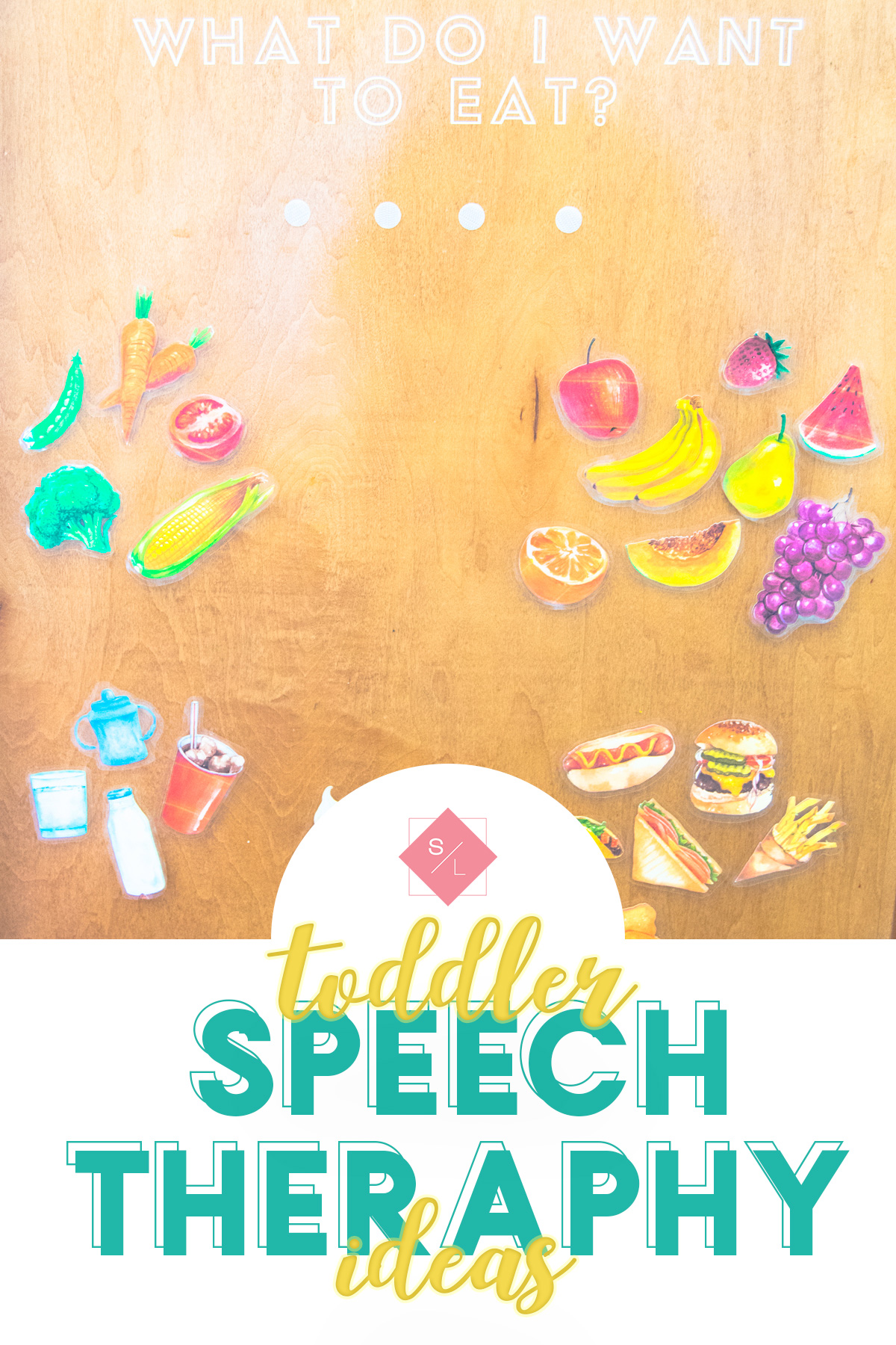 Use this toddler speech therapy activity to help toddlers learn food and ways they can start talking. #speechtherapy #toddlertherapy