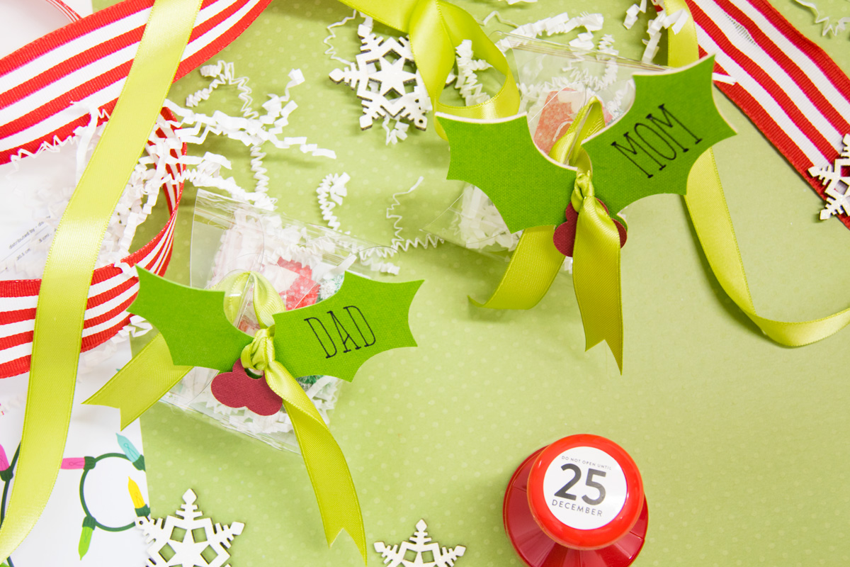 cricutmas acetate gift boxes