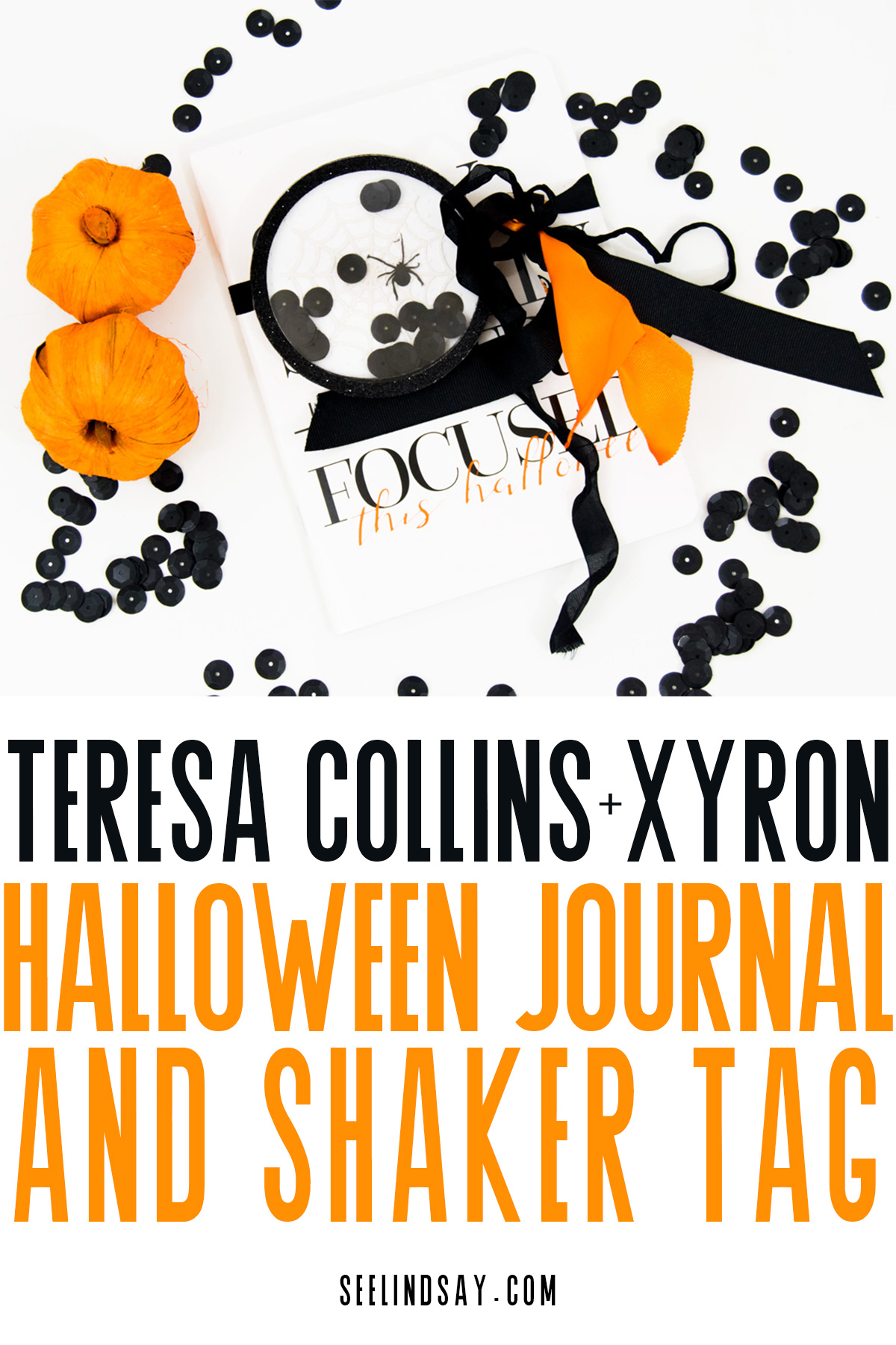 teresa collins notebook decorated for halloween