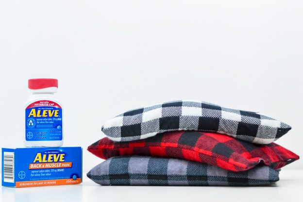 buffalo check flannel pouches filled with rice