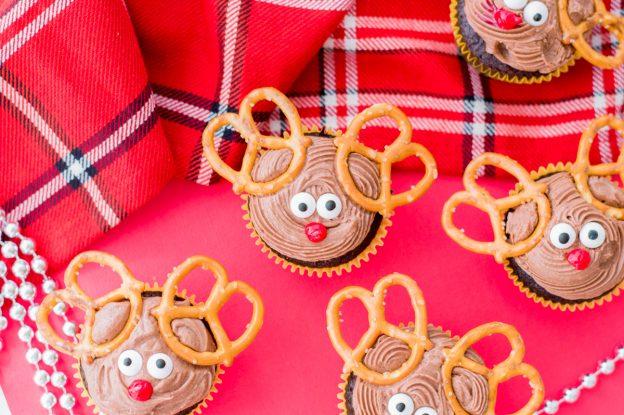 group of reindeer cupcakes