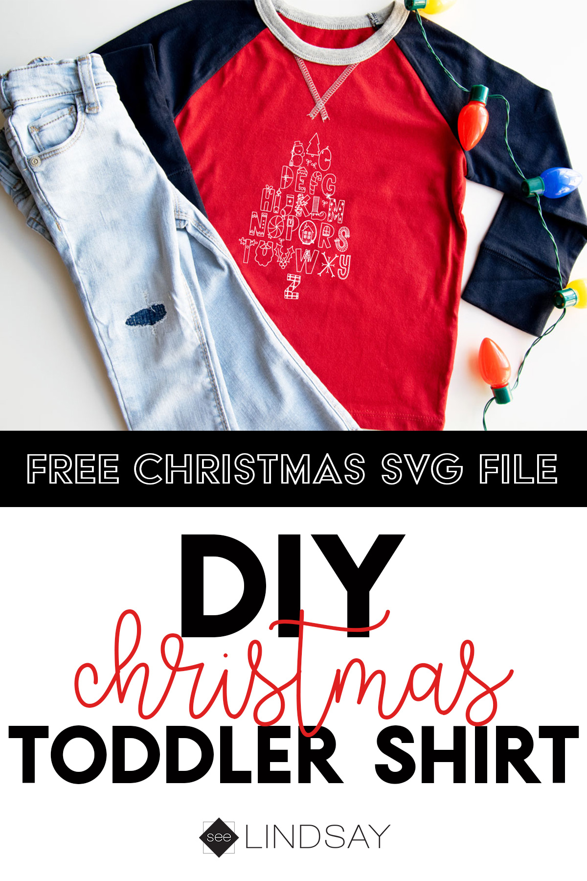 free Christmas svg on shirt