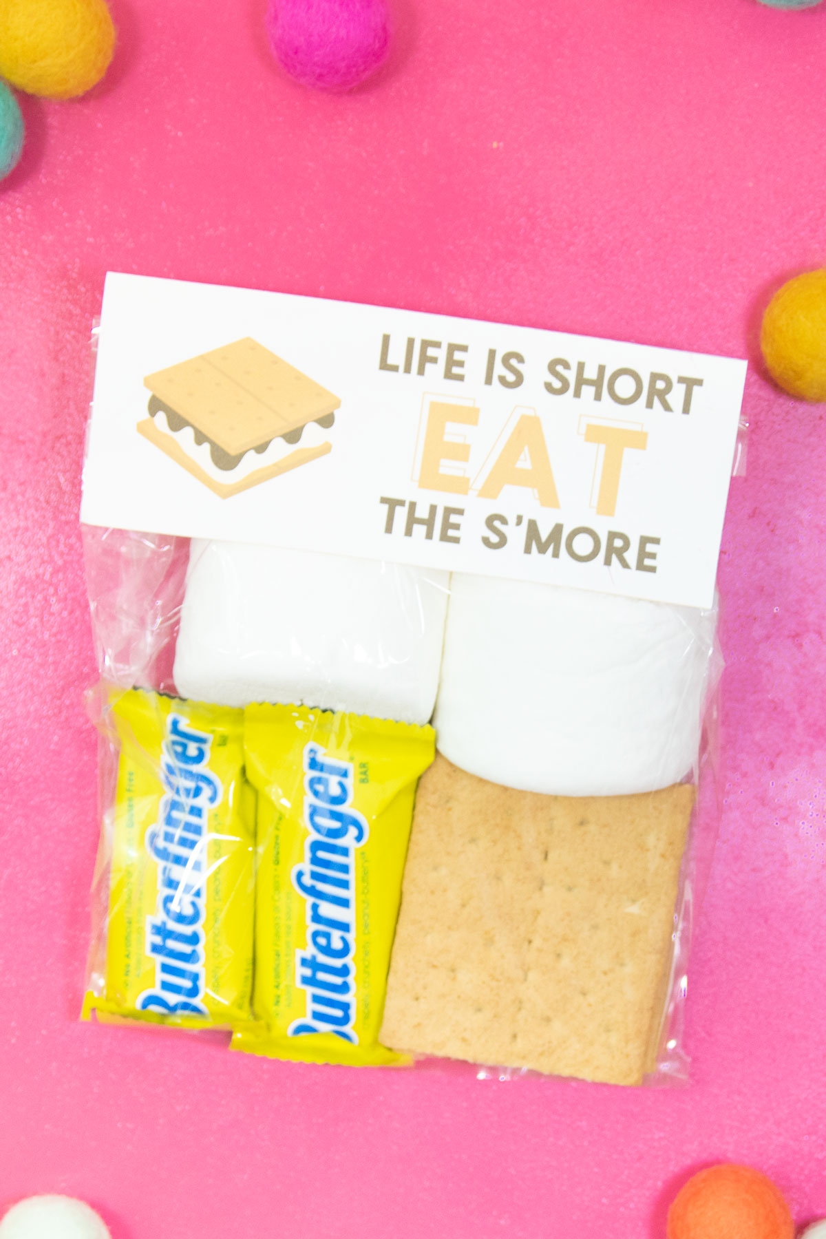Butterfinger S'mores with a free printable bag topper