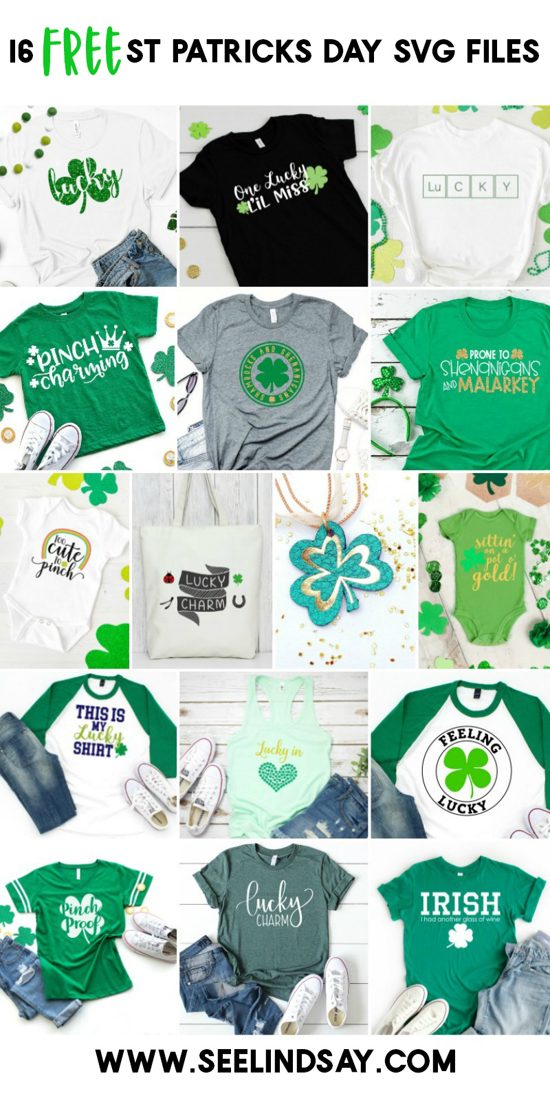 Making this easy DIY St Patricks Day Shirt is so easy and can be completed in minutes by using your Silhouette or Cricut machines. Grab the free St Patricks Day SVG files below to make your own today. #totallyfreeSVG #stpatricksdayshirt #stpatricksdaysvg #luckySVG #cricut #silhouette #heattransfervinyl
