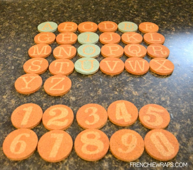 DIY Stencil Letters and Numbers by Frenchie for Hazel and Ruby