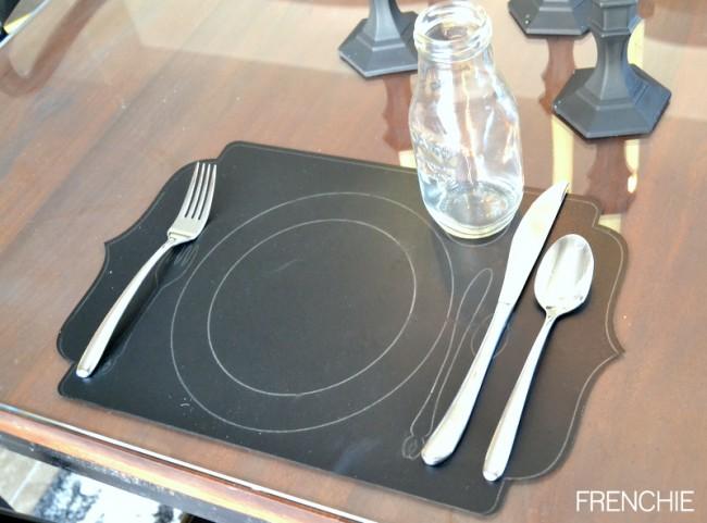 Easy Wedding Table Setting created with a Cricut Explore on seelindsay.com
