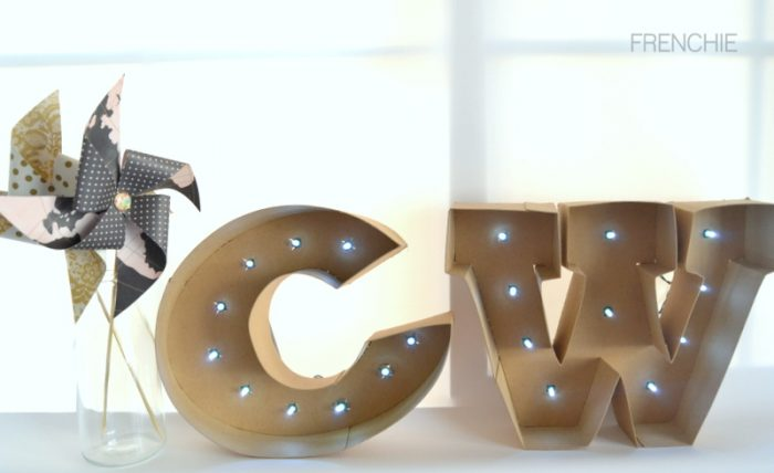 DIY Marquee Letters with your Cricut Explore