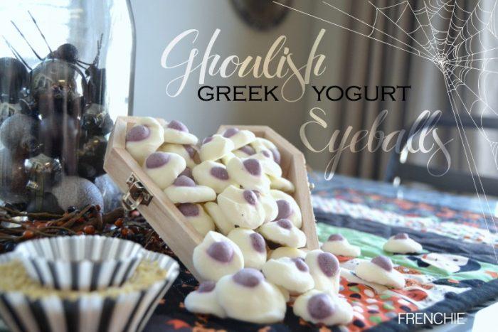 Ghoulish Greek Yogurt Eyes