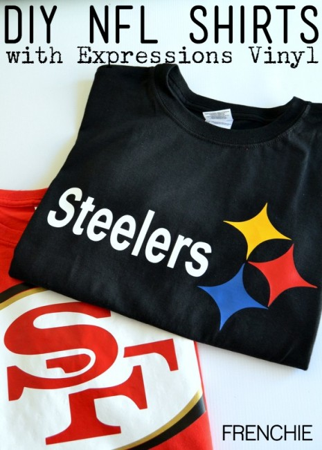 DIY NFL Shirts with Expressions Vinyl and $100 giveaway on seelindsay.com #VinylNFL