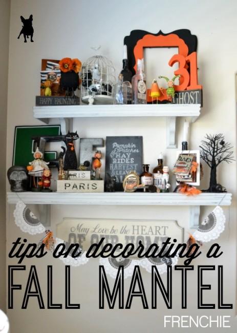 Fall Mantel Decor on seelindsay.com | #fallmantel | #falldecor | #fall