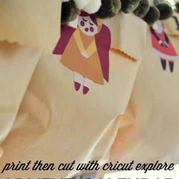 Create a custom advent calendar with your Cricut Explore by using the Print then Cut feature on seelindsay.com | #designspacestar | #cricut | #cricutexplore