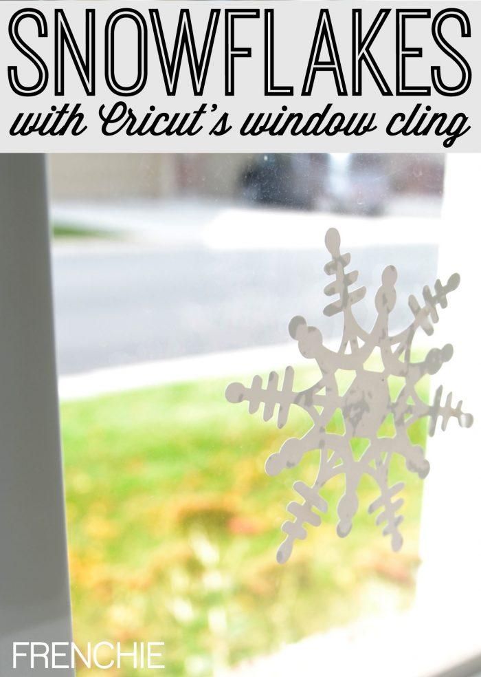 Cut Snowflake Window Cling with Cricut