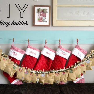 DIY Stocking Holder/Photo Holder built with RYOBI on seelindsay.com #buildlikeagirl