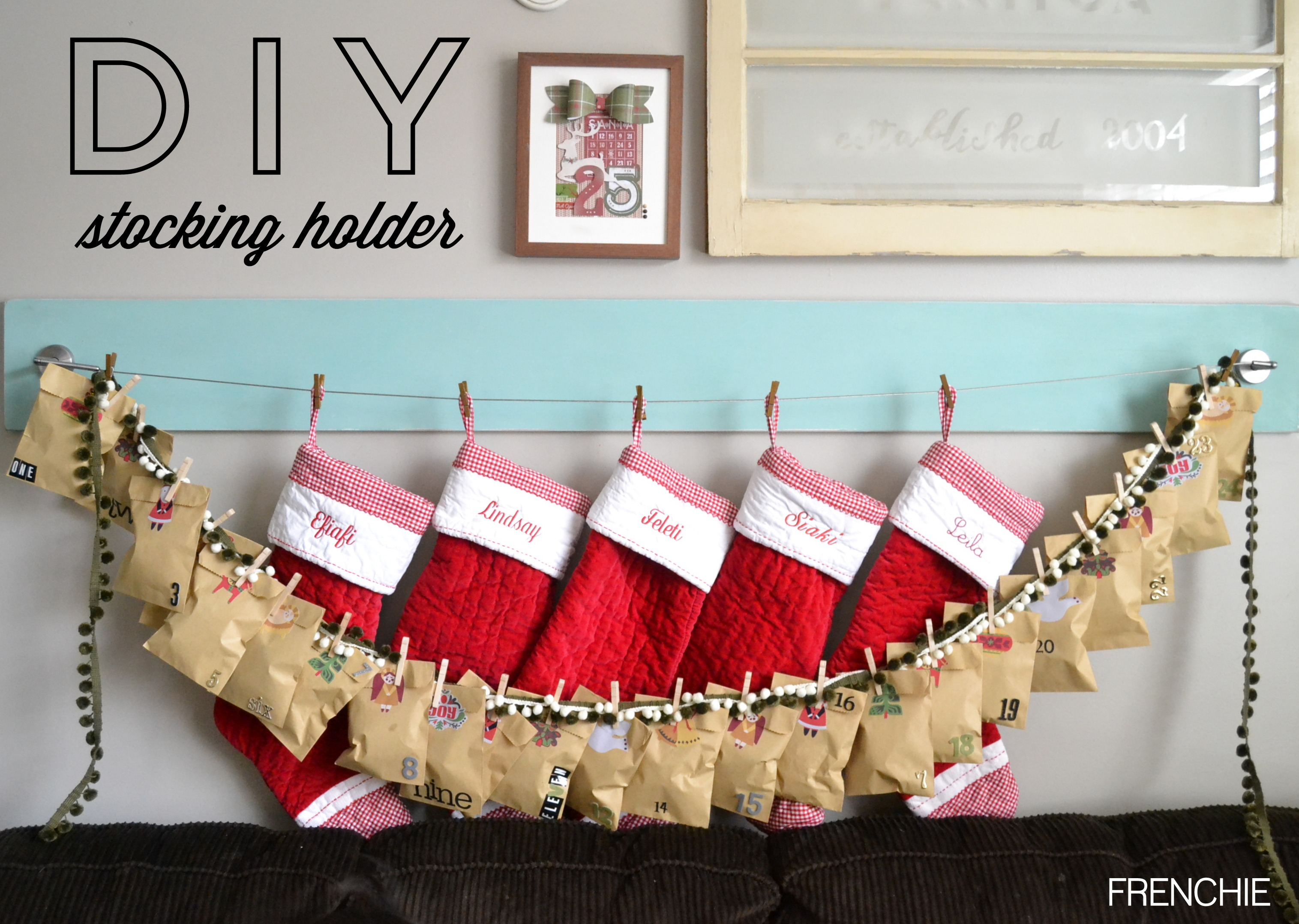 DIY Stocking Holder with RYOBI | seeLINDSAY
