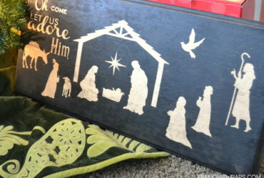 Hazel and Ruby Nativity Wooden Sign