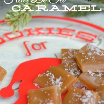 Make these delicious Fleur De Sel Caramels on seelindsay.com. Most delicious candy ever! #sweettreats #yummy