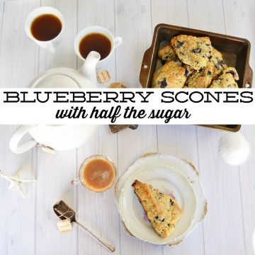 Make Blueberry Scones with half the sugar #SweetWarmUp #ad