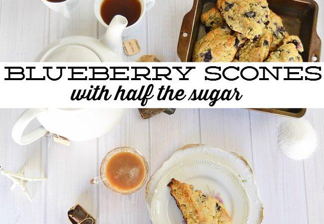 Orange Blueberry Scones with Half the Sugar