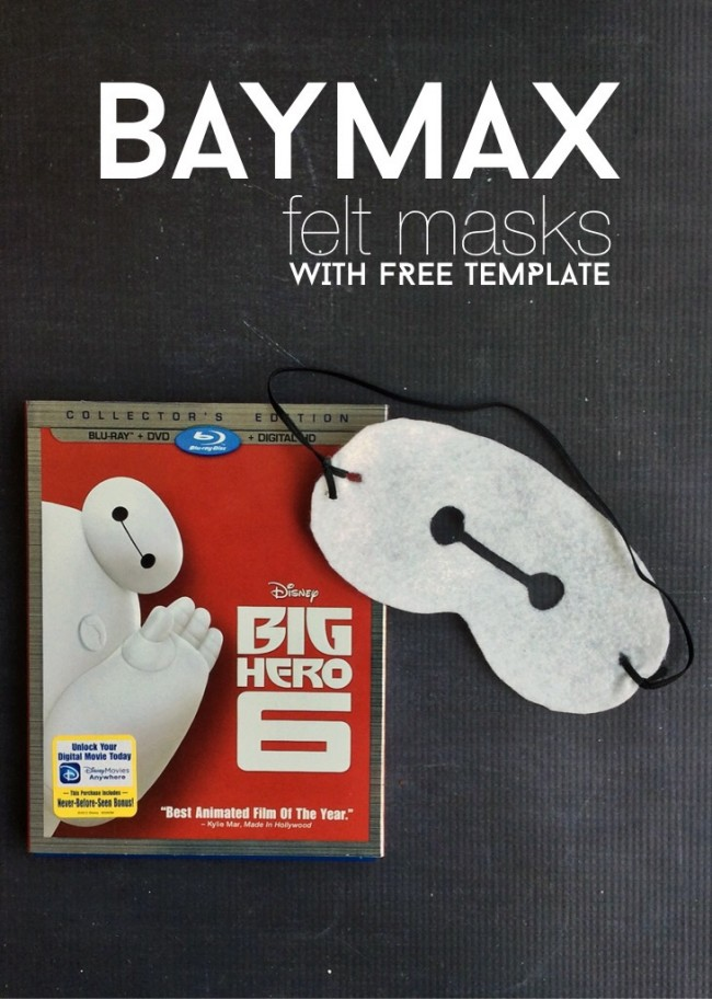 Create these Big Hero 6 craft felt masks. Perfect for any child or adult alike.