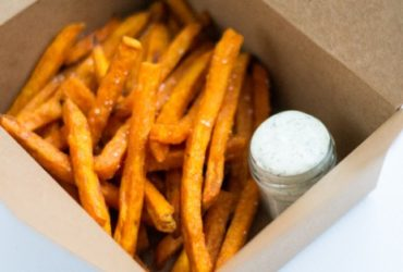 Lemon Dill Aioli with Sweet Potato Fries