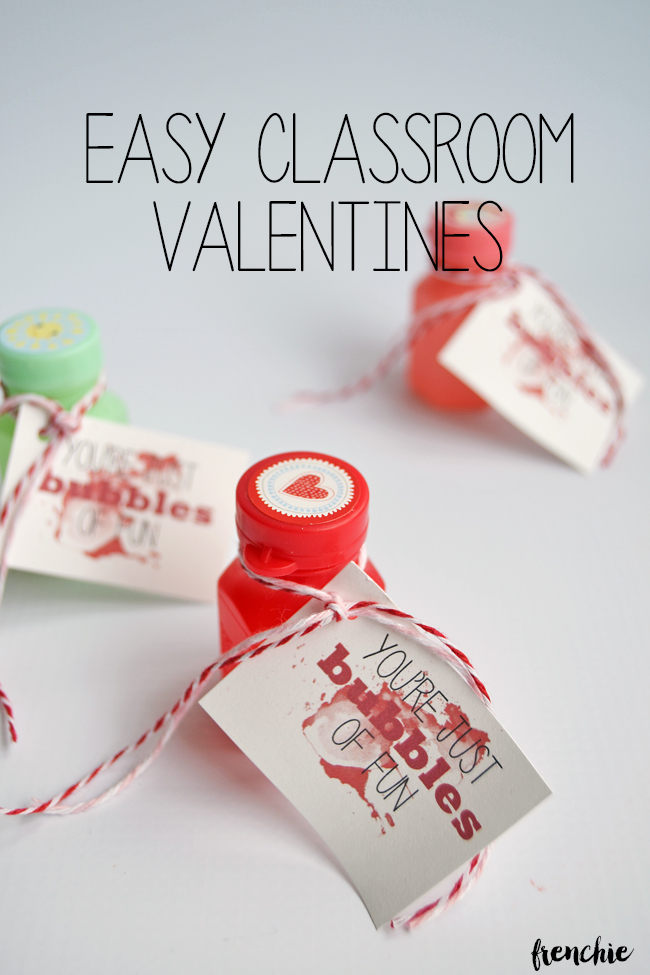 Create these easy classroom valentines. Cost less than $6 including the FREE printable available on seelindsay.com