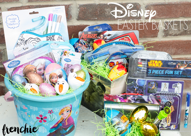 Create a Disney Easter Basket with FROZEN, The Avengers and Star Wars. Only on seelindsay.com
