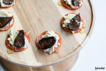 Pepperoni, Goat Cheese and Fig Appetizers