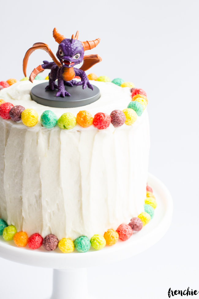 Create this homemade funfetti cake using General Mills Trix cereal.
