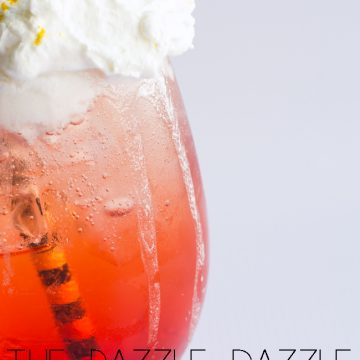 Make a fun Italian Soda recipe using raspberry syrup, Canada Dry Ginger Ale® and cream. Recipe only on seelindsay.com #KeepSpringBubbly #ad