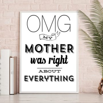 Grab this free Mothers Day printable with a funny quote. Your mom is going to love these. #freeprintable #mothersday #mothersdayprintable