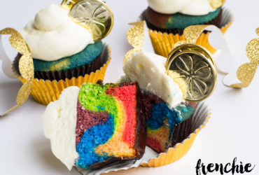 St Patricks Day End of the Rainbow Cupcakes