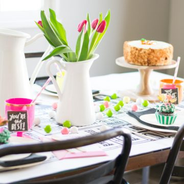 A Mothers Day Garden Party. Celebrate your moms with the easiest DIY party ideas.