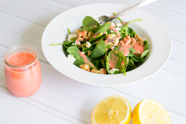 Make this simple and delicious Spinach Salad with Strawberry Vinaigrette in your very own Blendtec