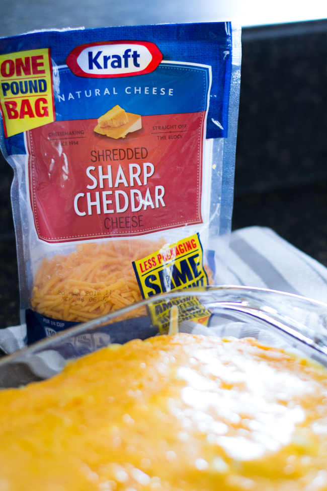 Sharp Cheddar Cheese Casserole