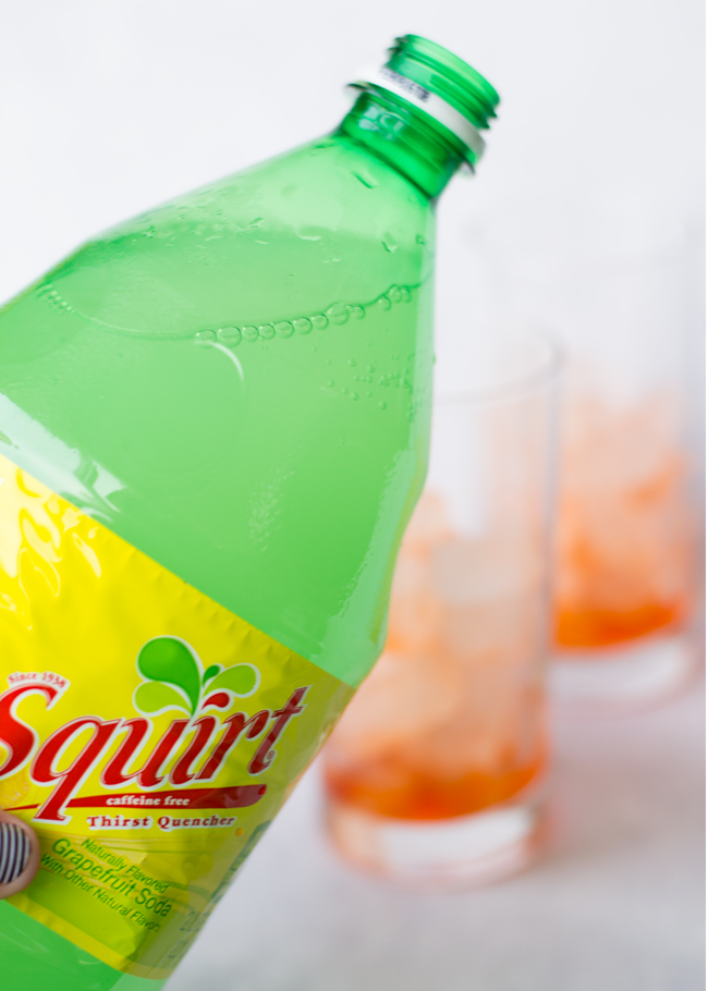 Squirt flavored soda