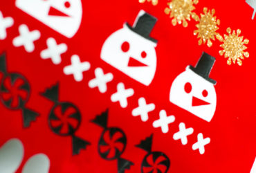 Ugly Christmas Sweater Stocking with Iron On Vinyl