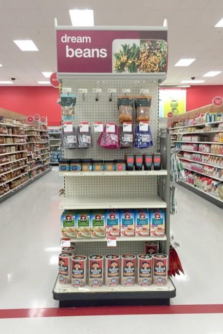 Target Oatmeal Endcap