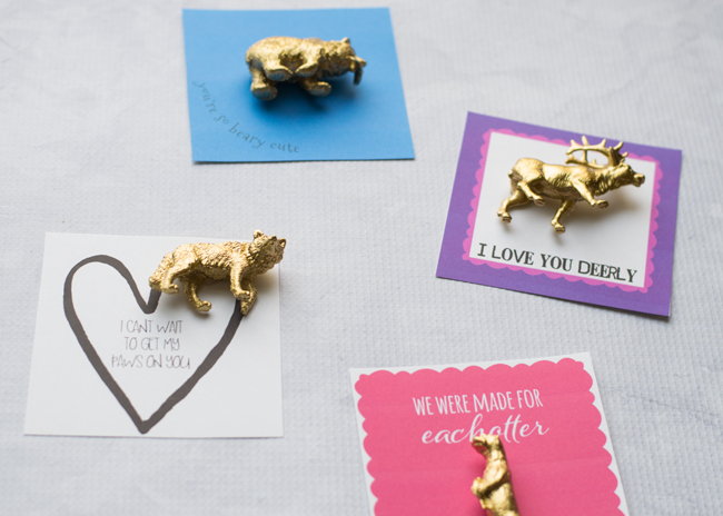 Make these easy animal kids valentines with a free printable available at seelindsay.com