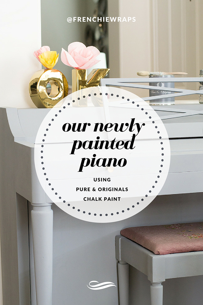Create a new interior look with a hand painted piano using Pure & Original Paints with the Fab Furniture Flippin' Challenge