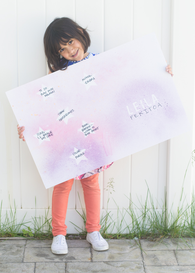 Is your child Star of the Week? Grab this creative and easy poster idea.