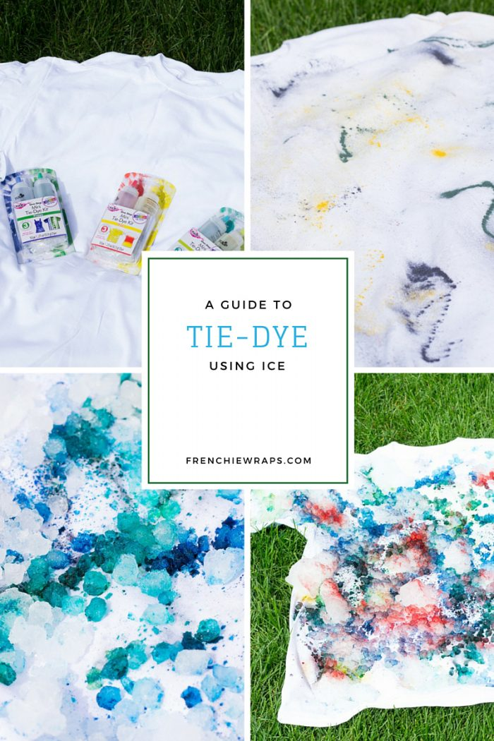 tie-Dye with ice how to