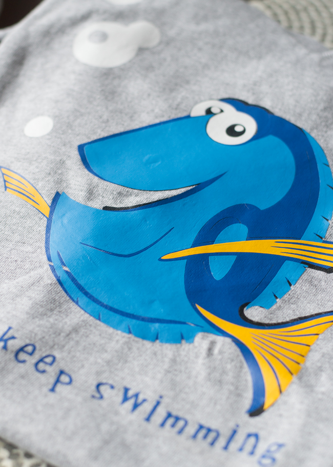 Want to make your own Finding Dory t-shirt. I'll show you how to layer iron-on vinyl that was cut with my Cricut. Get the cut file here too!