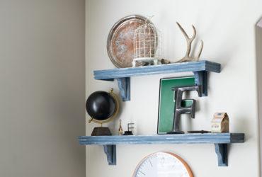 DIY Farmhouse Style Cafe Shelves