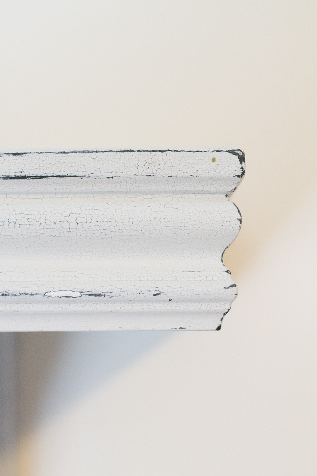 Ever wanted to diy farmhouse shelves? Use this milk paint trick to learn how to get the look.
