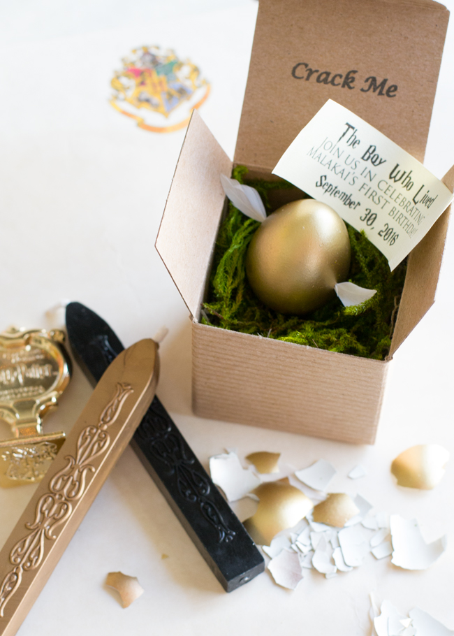 Harry Potter birthday invitations made fancy