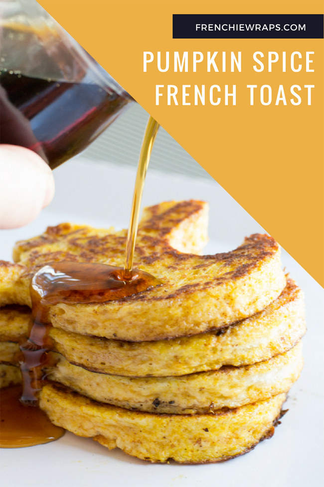 Make this perfect breakfast of Pumpkin Spice French Toast. The kids will love the fun Halloween shapes they're cut in to.