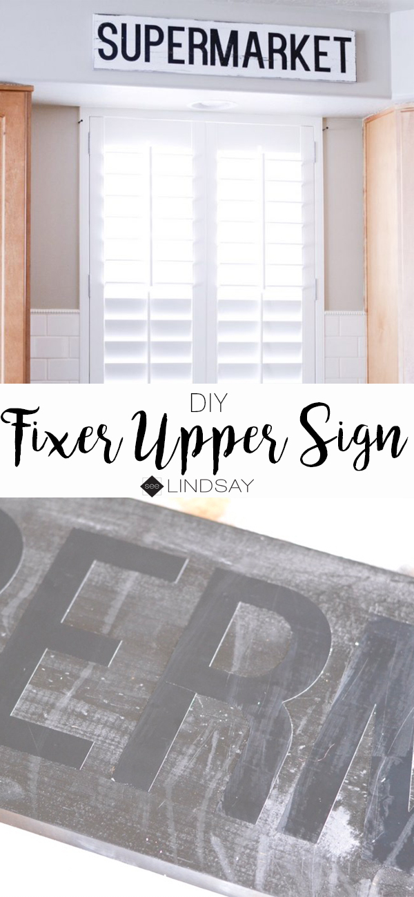 diy fixer upper sign