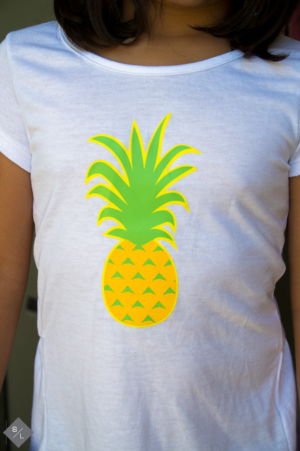 DIY Pineapple Birthday Shirt